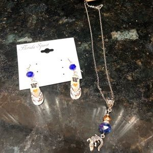 Jewelry - Florida Gator Necklace and earring set